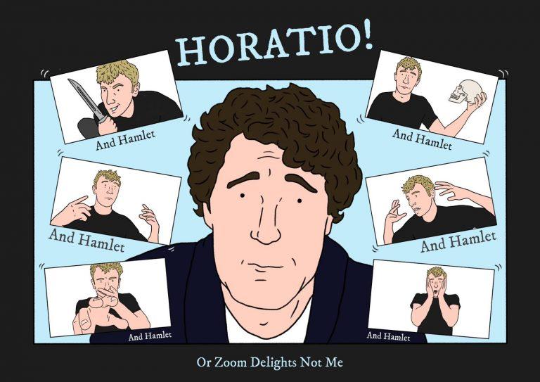 Horatio and Hamlet poster Nicholas Osmond